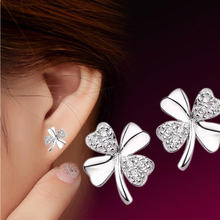 ANENJERY – boucles d'oreilles en forme de trèfle porte-bonheur pour femmes, en argent Sterling 925, Offre Spéciale, idée cadeau, S-E55