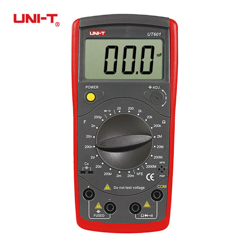 UNI-T UT601 Professional Inductance Capacitance Meters Ohmmeters Capacitor Resistor w/Diode & Continuity Ohm Buzzer Multimeter uni t ut601 modern professional capacitance meters ohmmeters capacitor resistor w diode