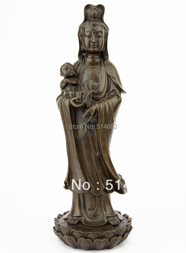 Brass SongZi Kuan Yin wealth FengShui /Kuan Yin/ auspicious Buddha/auspicious Kuan YinBrass SongZi Kuan Yin wealth FengShui /Kuan Yin/ auspicious Buddha/auspicious Kuan Yin