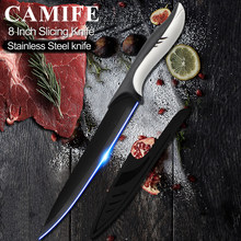 8 inch Slicing Knives Stainless Steel Kitchen Knife Japanese 3CR13 High Carbon Stainless Steel Vege Slicer Cooking Knife Tool(China)