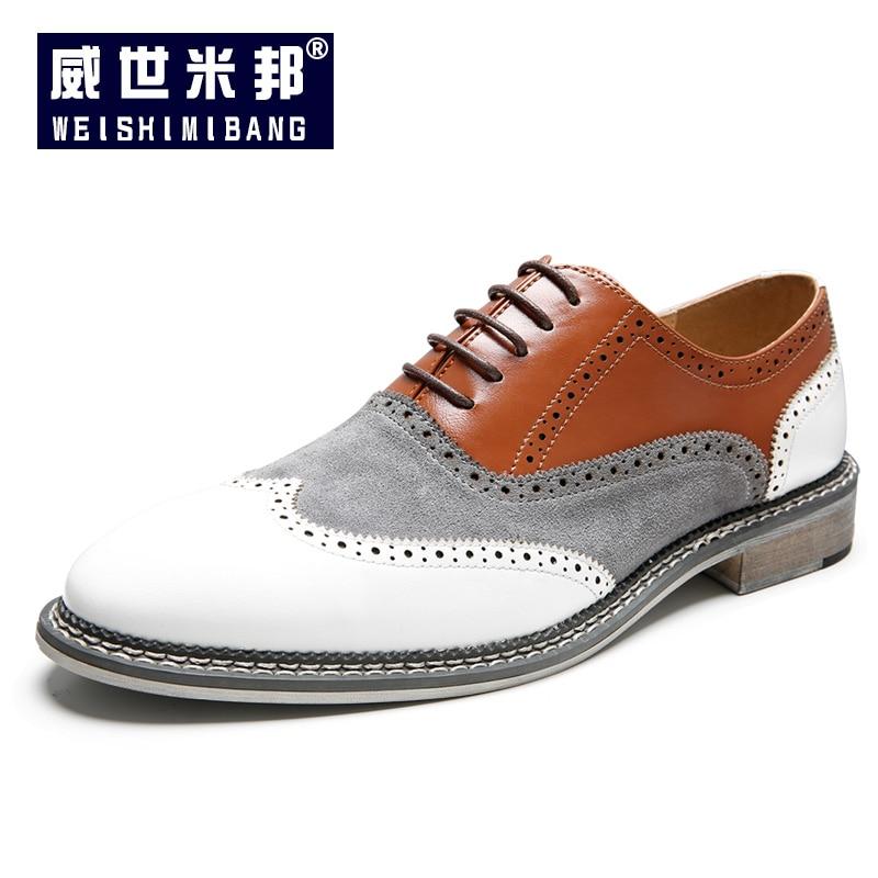 Plus Size 12 13 14 Eur 47 48 Mens Mixed Colors Brogue Shoes Trendy Carving Business Man Formal Dress