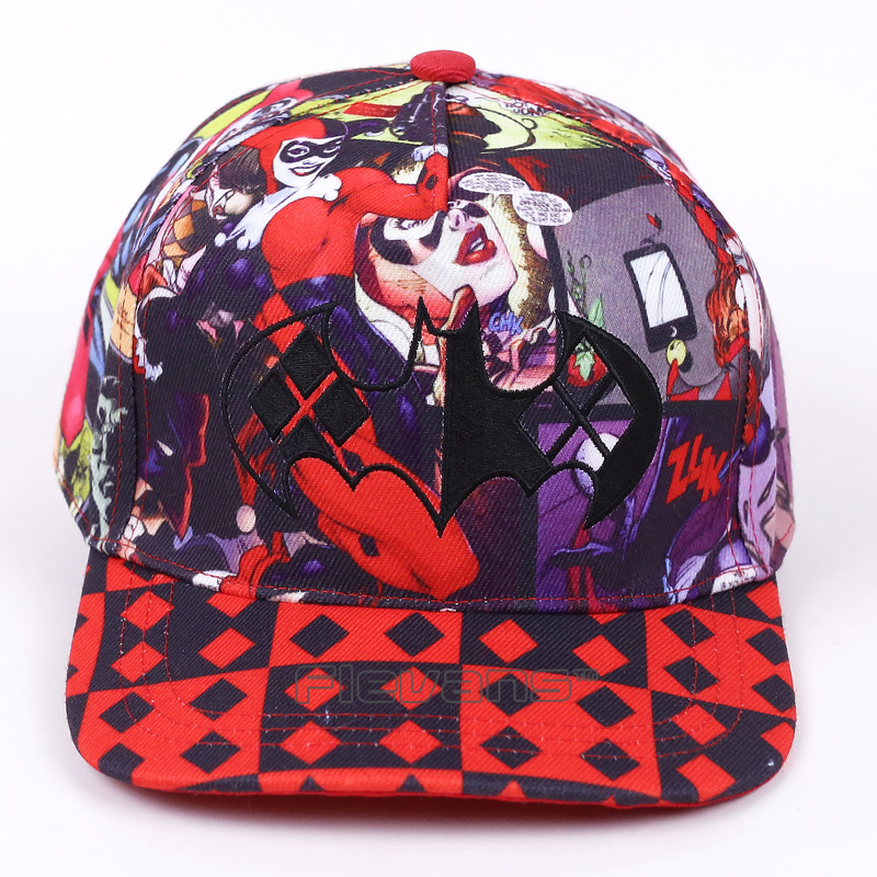 2017 Unisex Fashion Casual Baseball Hats Batman Harley Quinn Pattern Cap Summer Cotton C ...