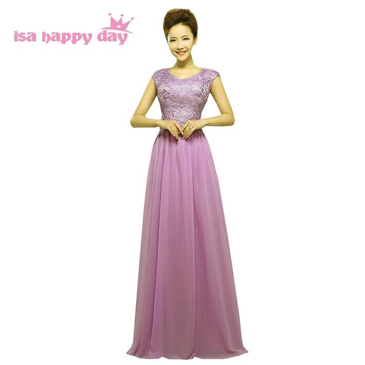 Long Summer Lavender Bridesmaids Occasion Lace Top Bridesmaid
