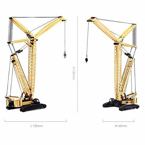 2016 New Piececool 3D Metal Puzzle of Crawler Crane 3D Metal Model 3D  Jigsaws from 3d Laser Cut Metal Sheets for Kids DIY Toys