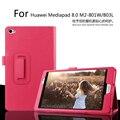 Para Huawei MediaPad M2 8.0 M2-801W / 803L Tablet caso Litchi capa de couro PU para Huawei M2 Tablet escudo protetor fino