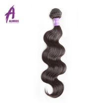 Alimice Indian Body Wave Human Hair Weave Bunbdles 8-30Inch 1 Piece Natural Color Non-Remy Hair Extension Free Shipping