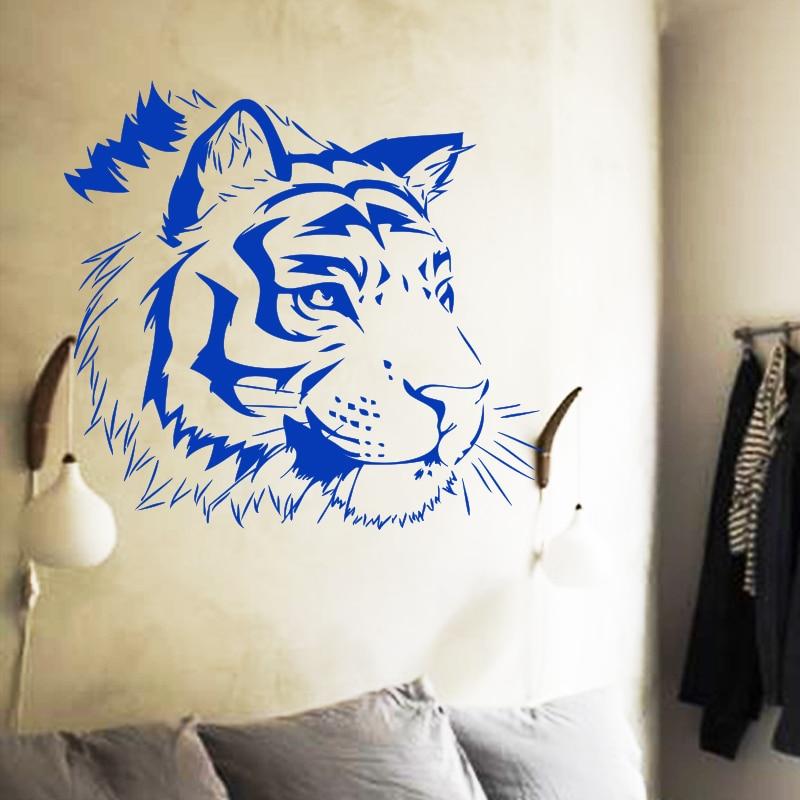 Art yeni dizayn ev bəzək ucuz vinil pələng divar stikeri - Ev dekoru - Fotoqrafiya 3