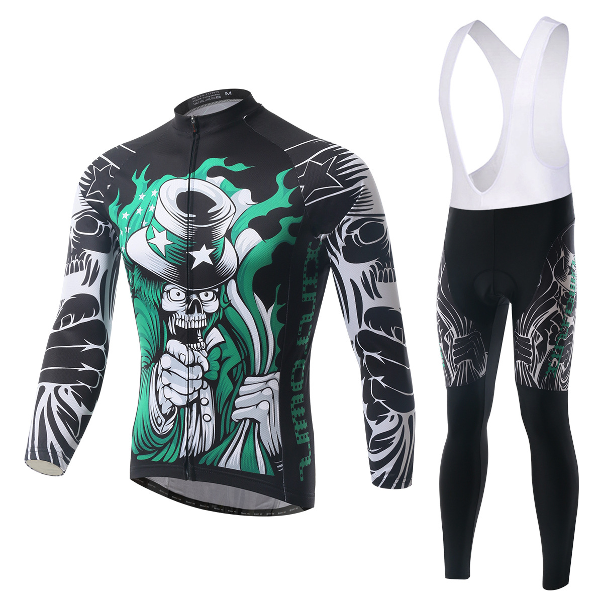 Cycling Set Long Sleeve Jersey and Bib Pants Pro Men Anti-sweat Necromancer Ciclismo Bike Suit MTB Bicycle Jersey Bicicleta