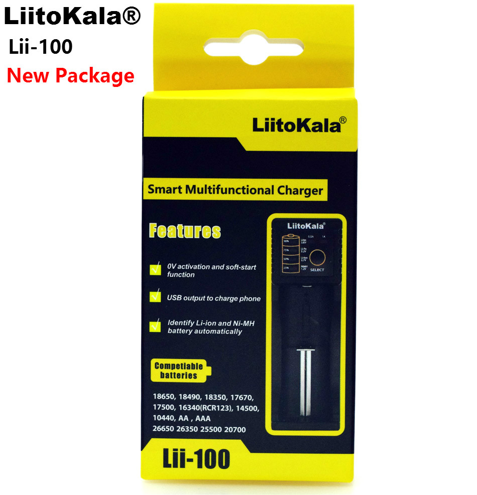 Liitokala Lii-100 1,2 V 3,7 V 3,2 V 3,85 V AA/AAA 18650 18350 26650 10440 14500 16340 25500 NiMH lithium-batterie smart-ladegerät