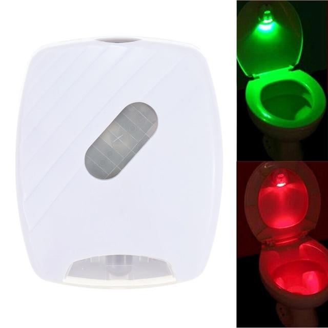 Human Body Motion Sensor LED Toilet Night Lamp PIR Light Sensor Green Red  Washroom Night Light fit for All Toilet Kids Battery