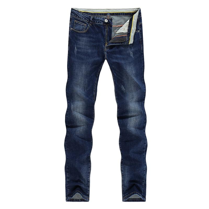 KSTUN Men Jeans Autumn and Winter Blue Stretch Business Casual Slim Fit Gentleman Denim Pants Men's
