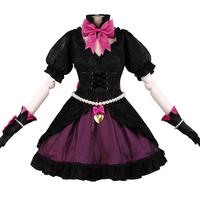 OW D VA Black Cat Luna Cosplay Costume Halloween Lolita D Va Women Dress Outfits Dress
