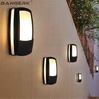 Nordic Outdoor Moderne Wand Lampe Wasserdichte LED Veranda Lichter Dekor Aluminium Beleuchtung Leuchte Wand lampen Garten Balkon Leuchten-in Outdoor-Wandlampen aus Licht & Beleuchtung bei