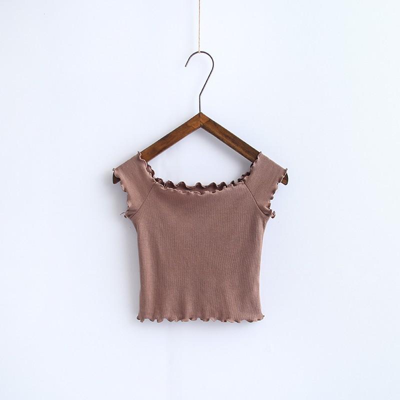 HTB1IxCGOVXXXXXjXpXXq6xXFXXXm - Striped Knitted Off Shoulder Slash Neck Short Sleeve T Shirt PTC 27