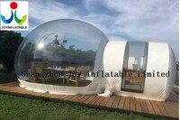 Livraison gratuite 6X8 M haute qualité à faible prix transparent gonflable tente gonflable pelouse tente
