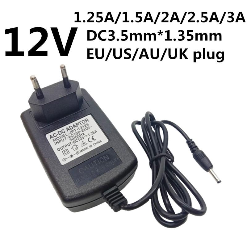 AC 100V-240V Converter Adapter DC 12V 2.5A Power Supply EU plug DC 5.5mm 2500mA