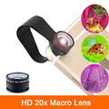 High Quality Super 20X Macro lens For Samsung Galaxy S3 S4 S5 S6 S7 edge note 2 3 4 5 7 Microscope Mobile Phone Camera Lentes