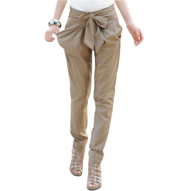 Aliexpress.com : Buy Khaki Pants High Waist Trousers Women Skinny ...