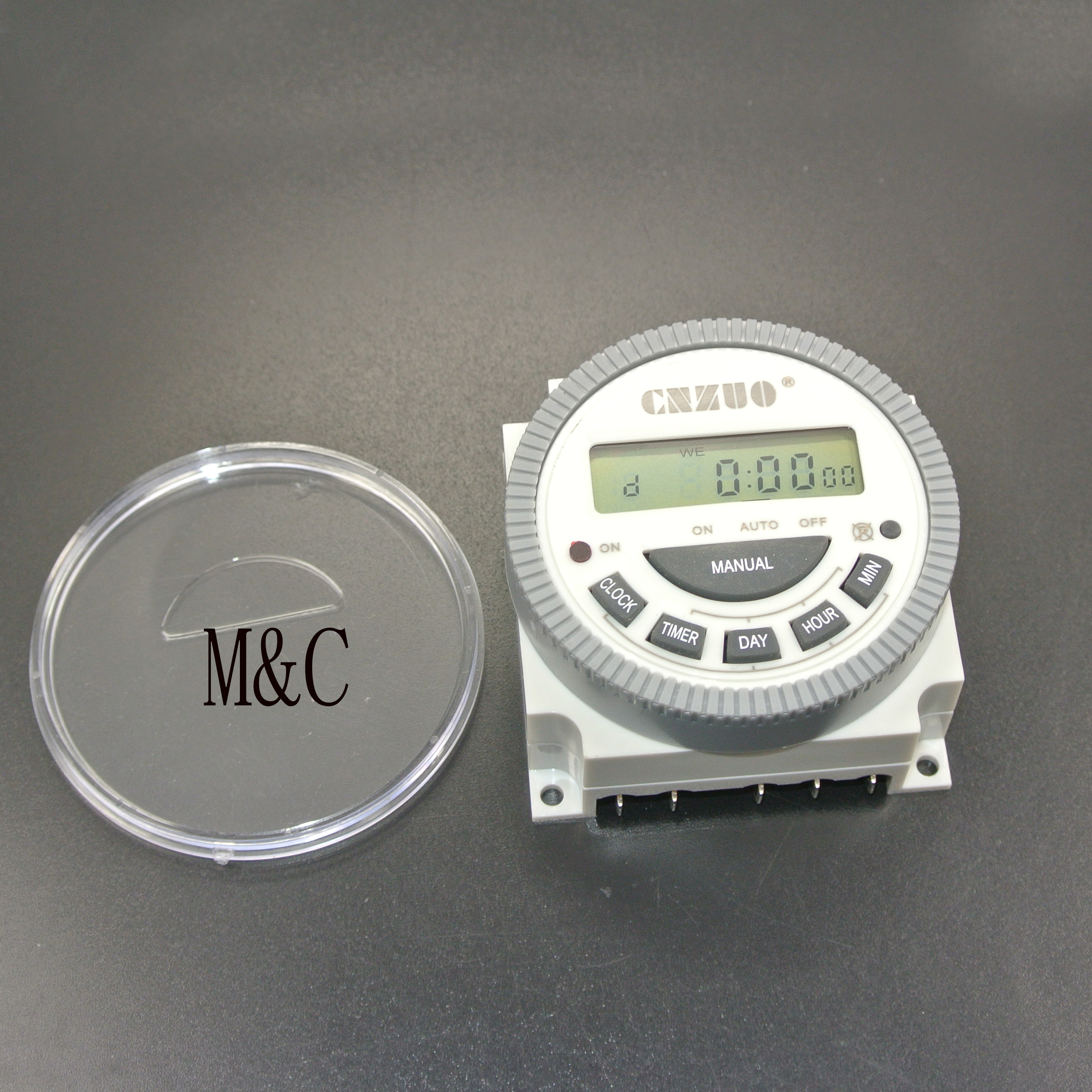 220vac 110vac 12vdc 24vdc digital timer switch with waterproof cover output easy wiring 7 days programmable time switch [ 2672 x 2672 Pixel ]