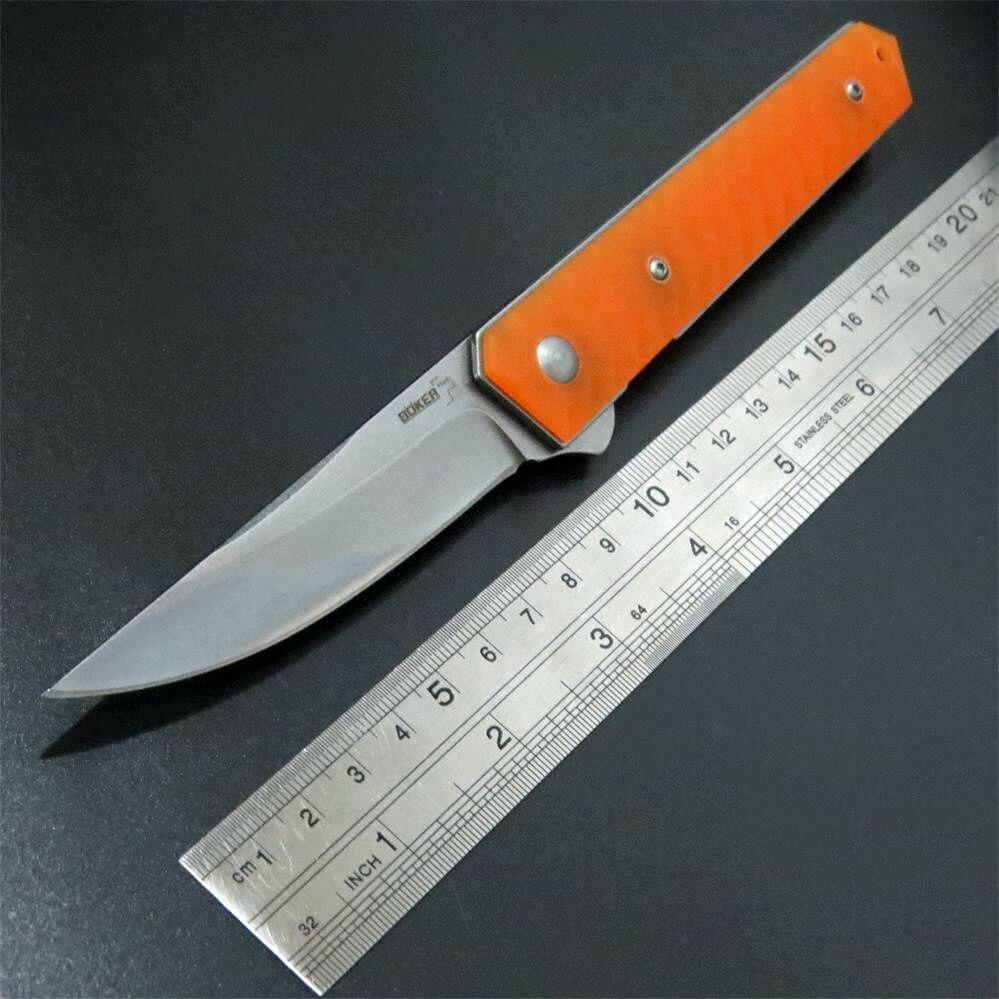 Newly EDC Tool Orange font b Tactical b font Folding Blade font b Knives b font