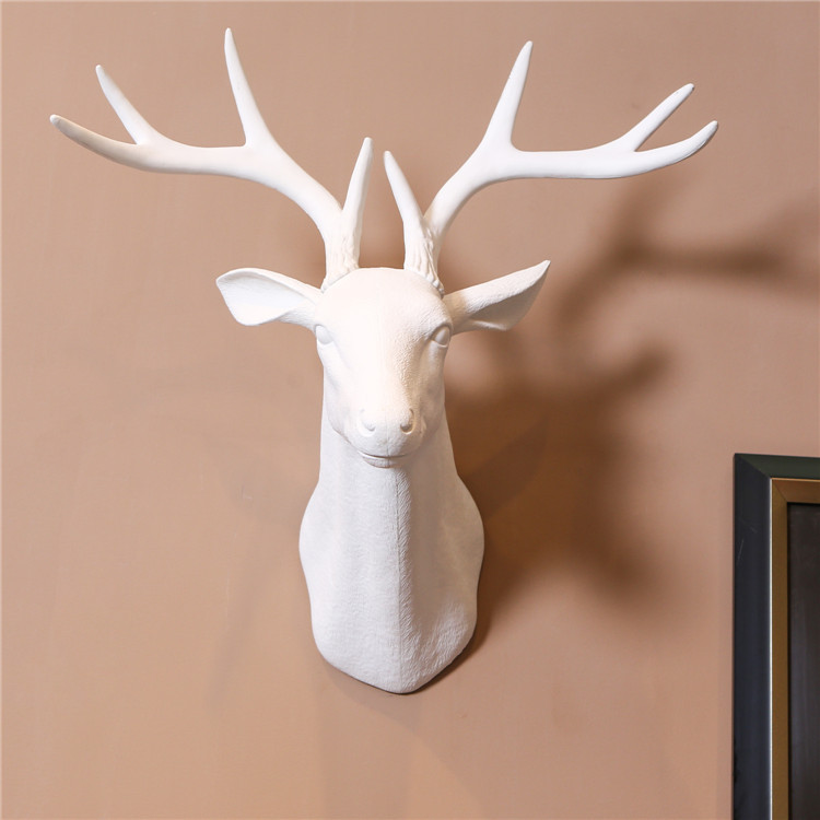 Wall mounted hanging Deer Head Home decor Bar Shop animal head for wall decoration