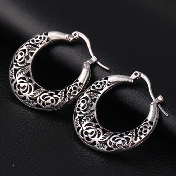 If Me New Hollow Vintage Antique Silver Color Earings Fashion Jewelry Pendientes Mujer Cute Love Dangle Earrings Moon Women Gift