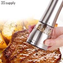 6,5*21,5 cm Taille Design Edelstahl Salz und Pfeffermühle Salz Pfeffermühle Brecher Küche Metall Spice Mühlen