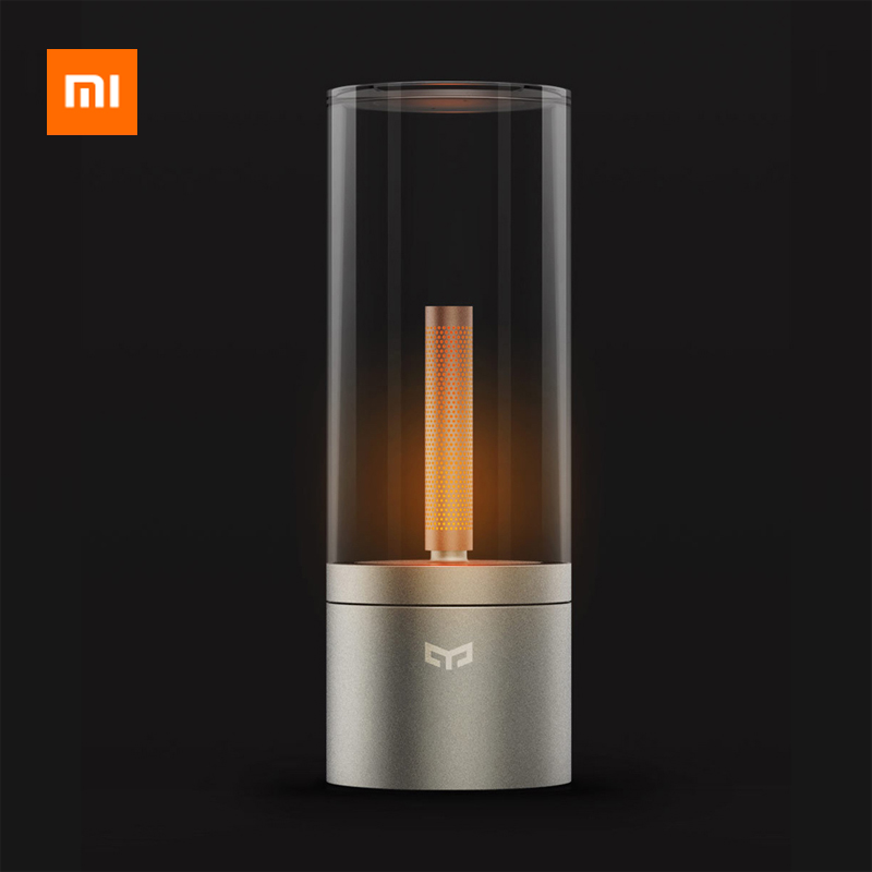 original xiaomi mijia yeelight ambiance lamp vintage smart candela led light dimmable bedside night light for xiaomi mi home app Original Xiaomi Mijia Yeelight Candela Led Night light Smart Mood Candle light For xiaomi Mi home Bluetooth APP Remote Control