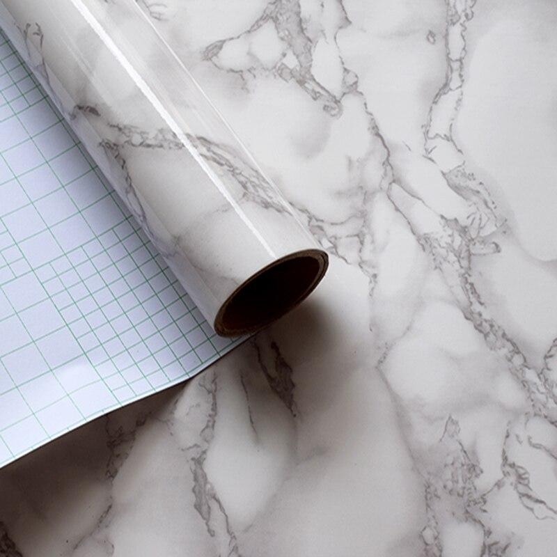 3 м/5 м Мрамор ПВХ самоклеющиеся обои подоконник стол бар Водонепроницаемый стены Стикеры Кухня шкафа плита масла доказательство Стикеры s