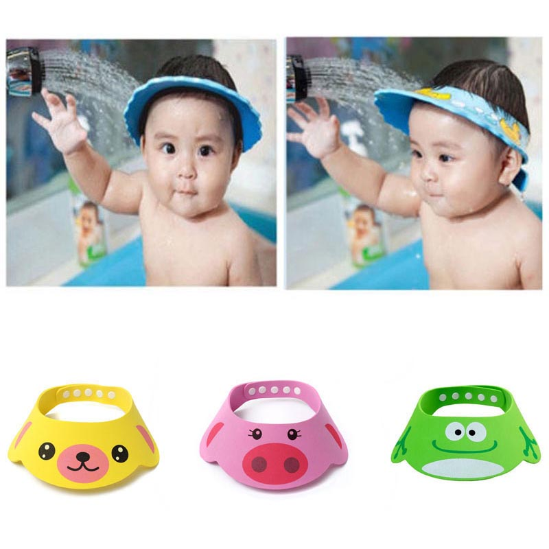 Styling Tools Humor 2pcs Safe Shampoo Shower Bathing Bath Protect Soft Cap Hat For Baby Wash Hair Shield Bebes Children Bathing Shower Cap Hat Kids Caps, Foils & Wraps