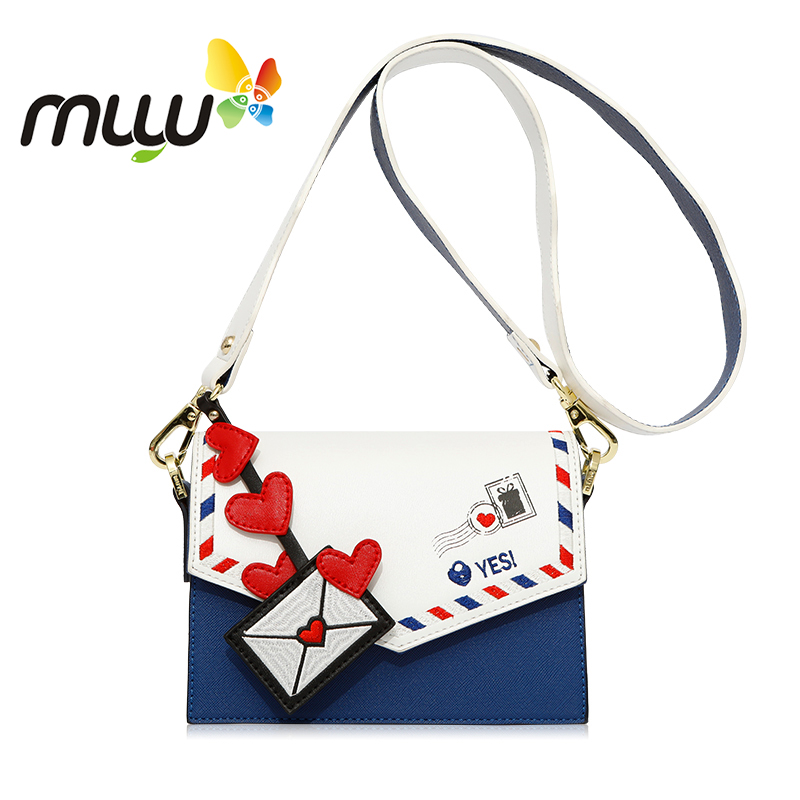 Muyu 2018 Embroidery Pattern Fashion Shoulder Bags for Women Zipper Hasp Soft PU Ladies Casual Crossbody Bags 4091810 shoulder bag
