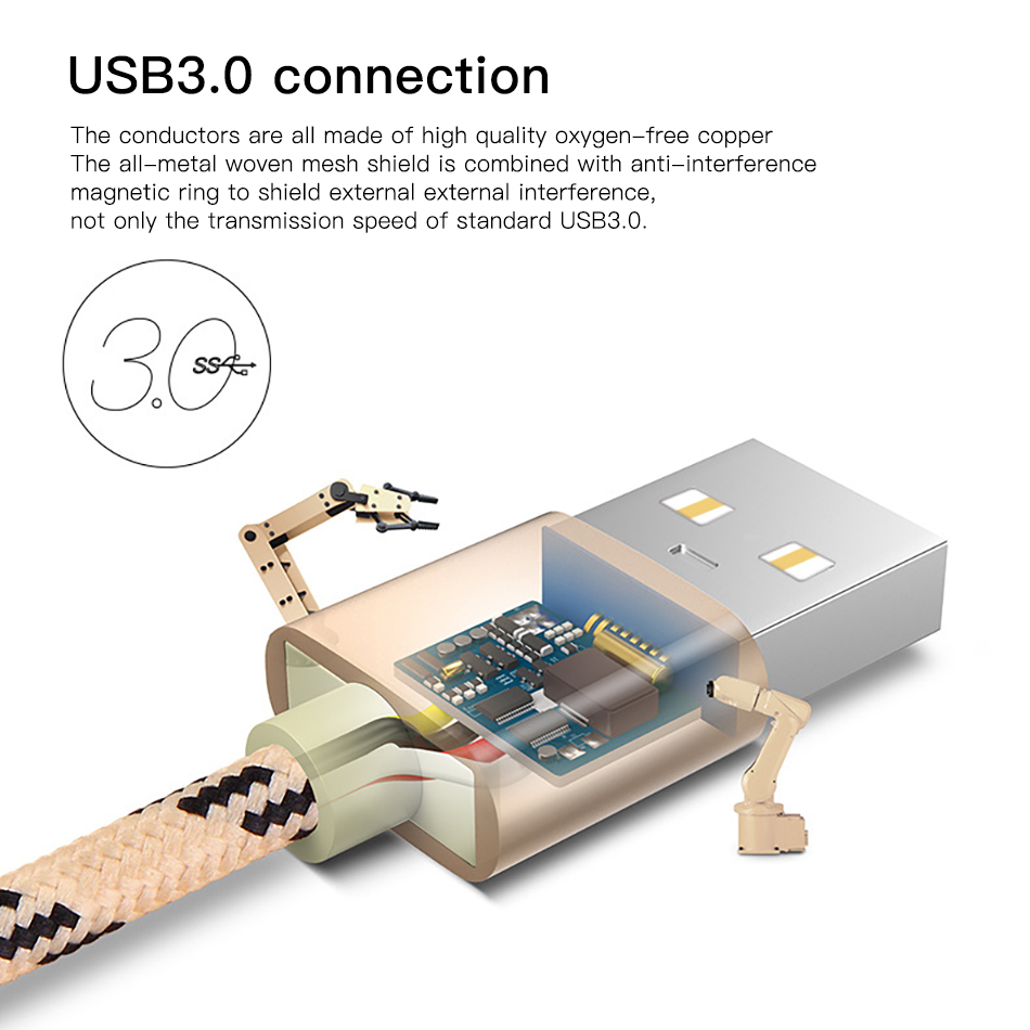 !ACCEZZ USB Charging Data Cable Type C For Xiaomi 5 6 Samsung Gaxaly S8 S9 Plus Charge Cord For Oneplus 6 5 5T Fast Charger Line (6)