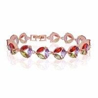 Crystal Tennis Bracelet Gold Or Silver Plated Cubic Zirconia Rhinestone Bracelets For Women
