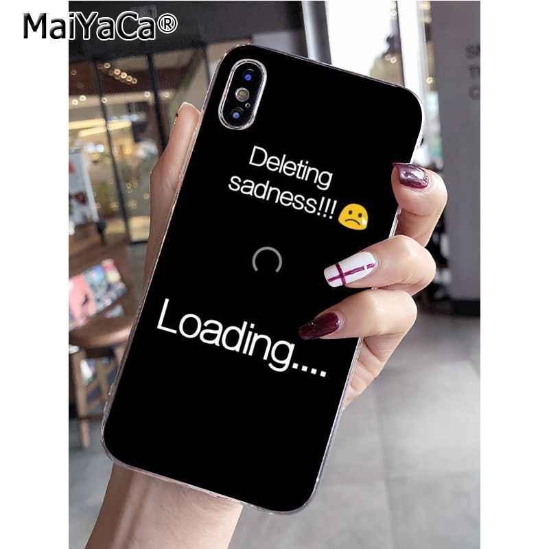 MaiYaCa מדיה חברתית פוגע שלך נפשי בריאות יפה טלפון מקרה עבור Apple iPhone 8 7 6 6S בתוספת X XS מקסימום 5 5S SE XR נייד כיסוי