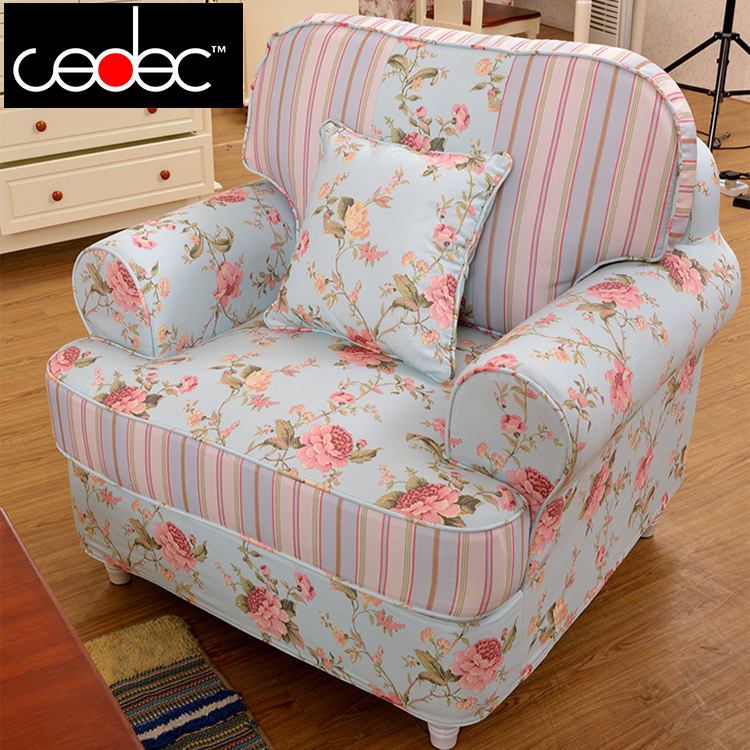 1+2+3 Seat /set Flower Fabric Sofa For Living Room  #CE-2070