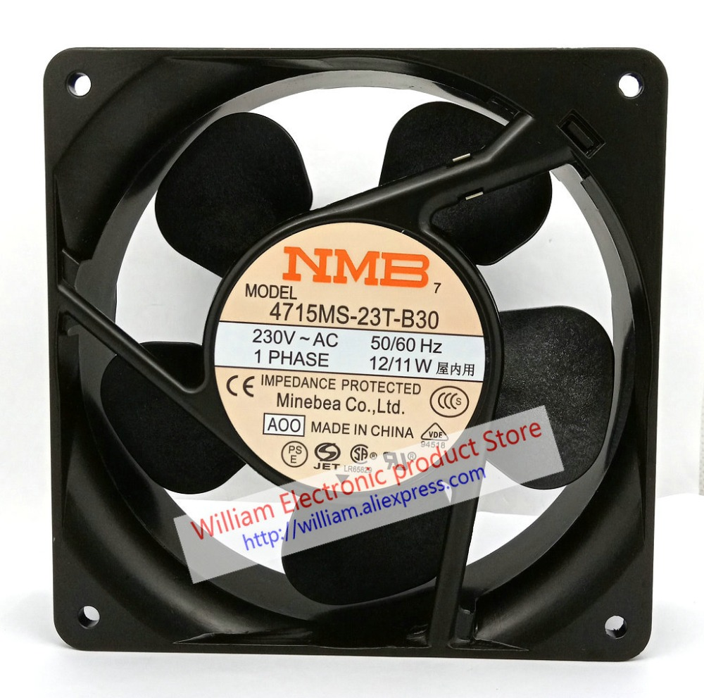 New Original NMB 4715MS-23T-B30 120*38MM AC230V 12/11W silent cooling fan