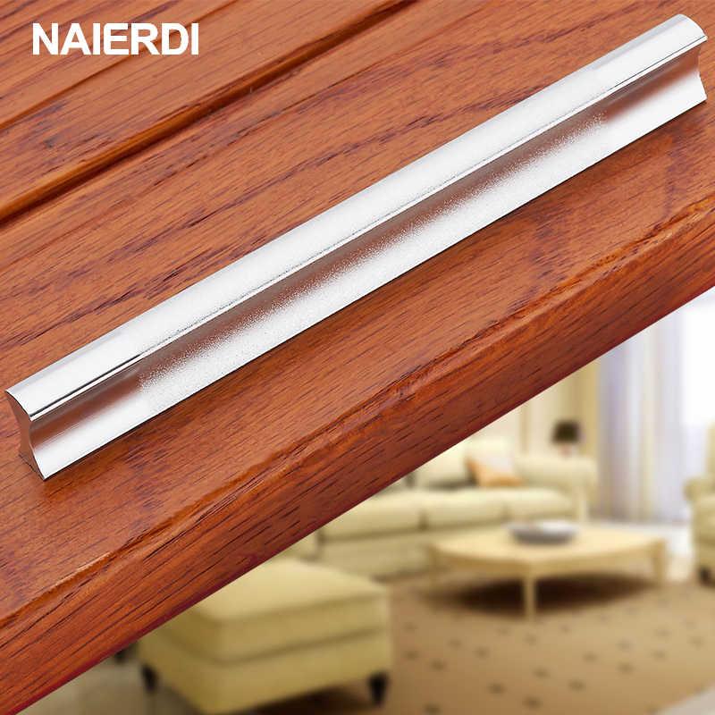 NAIERDI ручки для кухонных ящиков из алюминиевого сплава, дверная ручка, держатель для шкафа, чехол, съемник, шкаф, оборудование для обработки мебели
