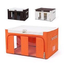 Waterproof Oxford Cloth Folding Steel Framework Storage Box Large Capacity Clothing Organizer 4 Size Free Shipping Eco-Friendly