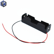 New 18650 Battery Holder Box Case Black With Wire Lead 3.7V Clip 5 Pcs high quality