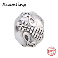 Fit Authentic Pandora charms 925 Sterling silver original Antique guitar shape Bracelet Pandora Pendant Beads Jewelry Gifts цена