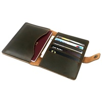Men Genuine Leather Slim Wallet Solid Short Passcard Pocket Mens Business Clutch Wallets Male Card Holder