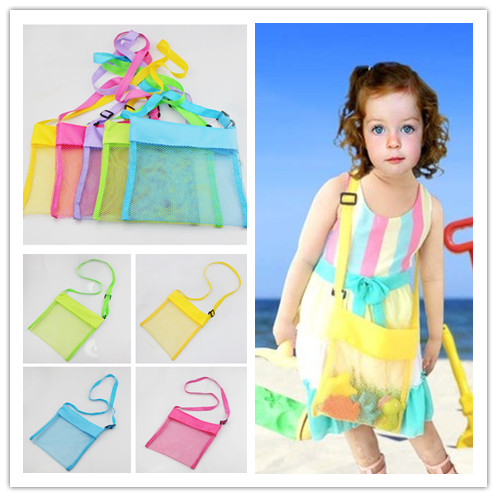 100pcs Summer Sand Away Beach Mesh Bag Children Beach Toy Playing Tool Storage Bag Baby Bath Toy Classic Toys For Children
