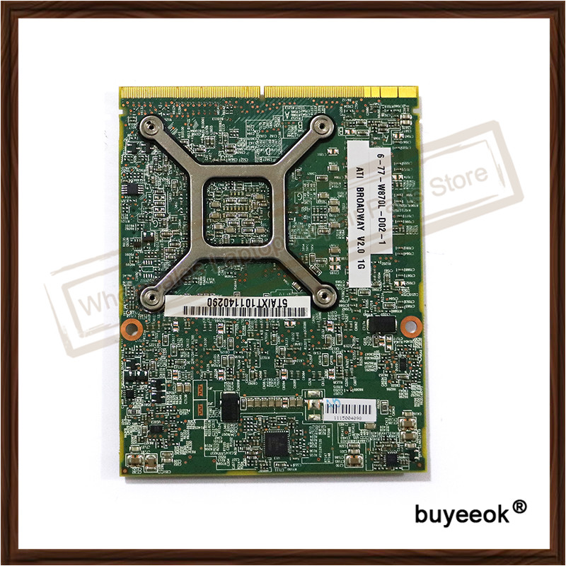 Original New HD 5870 HD5870 216-0769008 Video Card For Clevo W860CU W870CU P150SM HD 5870M HD5870M Grpaphic Card Replacement new for msi ms 16f1 16f2 16f3 1656 1727 notebook pc graphics video card ati mobility radeon hd 5870 hd5870 1gb gddr5 drive case