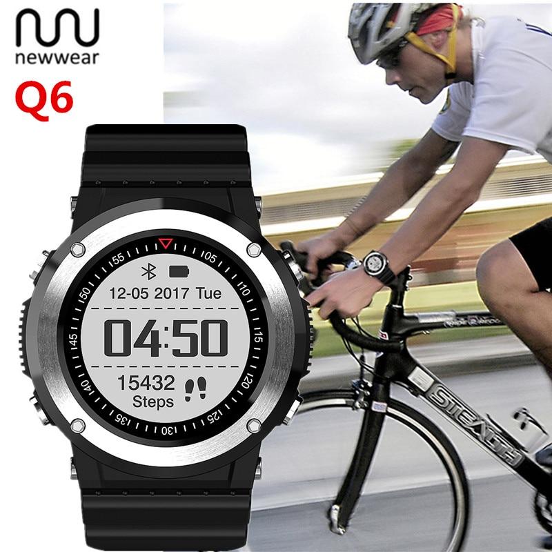 NEWWEAR Q6 GPS Smart Watch GPS Compass Heart Rate Monitor Sports Mode Fitness Tracker Bluetooth Fashion Smartwatch For Men
