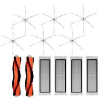 for Roborock Accessories Pack of 6Pcs Side Brush 4Pcs Hepa Filter 2Pcs Main Brush Suitable for Vacuum Cleaner Roborock S50