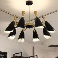 Современные светодиодный Люстра для Гостиная E14 люстры на потолке люстры с металлической абажур обеденные лампы