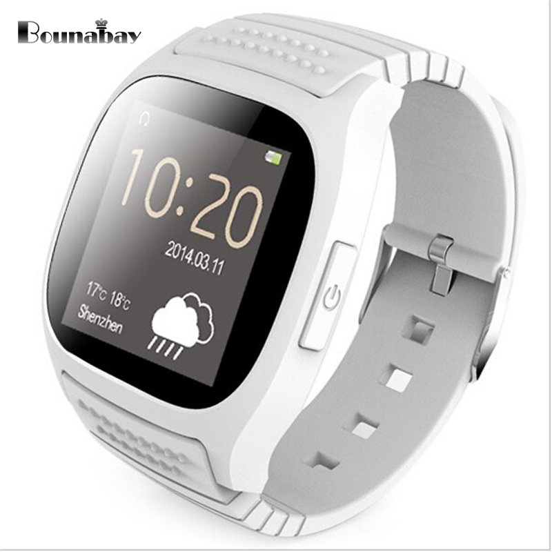 BOUNABAY Analog Display Bluetooth 4.0 Smart man watch for android phone man's watches Camera men Clock Touch Screen men's Clocks