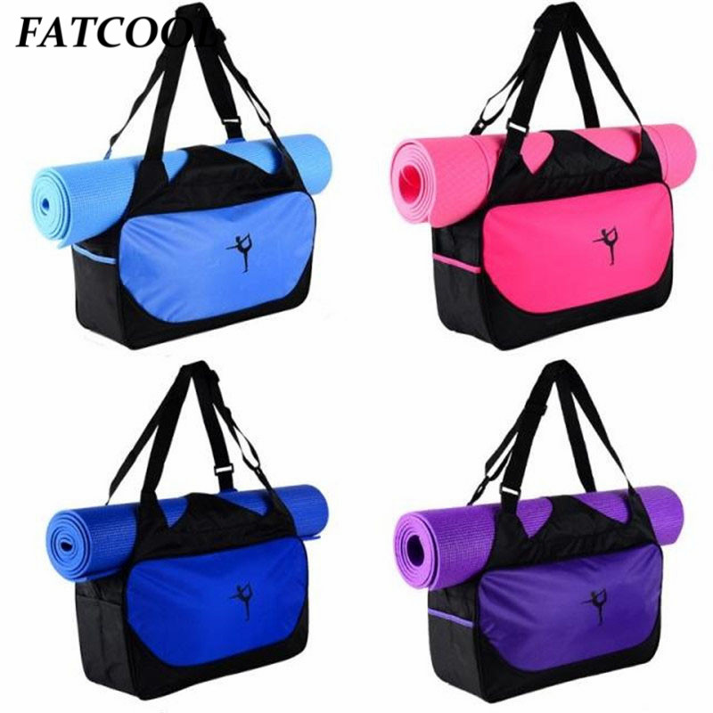 Quality Multifunctional  Yoga Mat Backpack Waterproof Shoulder Carriers Yoga Bag Gym Bag Sports Bag Without Yoga Mat
