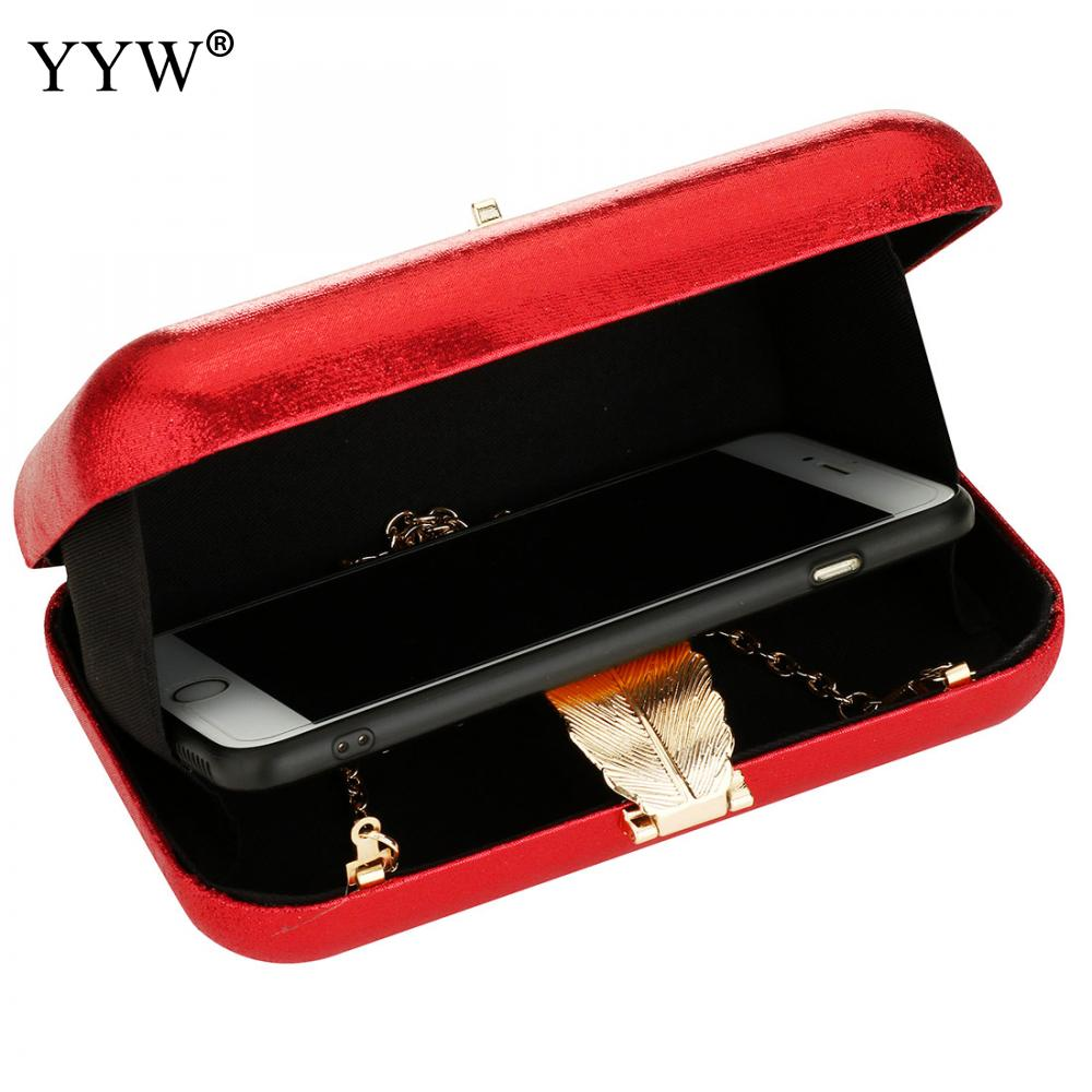 Image 2 - Zinc Alloy Clutch Bag Christmas Evening Bags For Women Sequined Chain Shoulder Bag Female Party Wedding Clutches Purse Red Gold-in Top-Handle Bags from Luggage & Bags