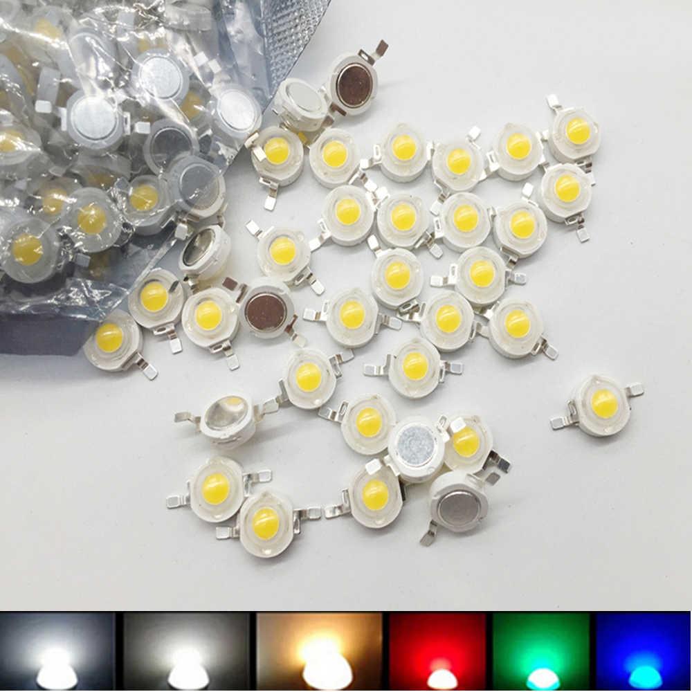 100 pièces 1000 pièces LED COB lampe puce 1 W 3 W 3.2-3.6 V entrée Mini LED ampoule Diode perle pour bricolage éclairage LED spot Downlight